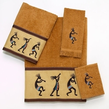 KOKOPELLI  4 Piece Towel Set-Nutmeg