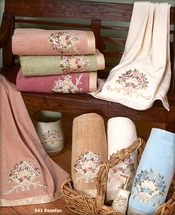 Rosefan Embellished Bath Towel Sets