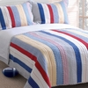 Prairie Stripe Cotton Quilt/Sham Set