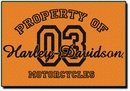 Harley Davidson� Property Of Rug 20 x 30""