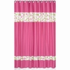 Circles Pink Shower Curtain