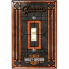 Harley Davidson® Classic Single Art-Glass Switch Plate Cover