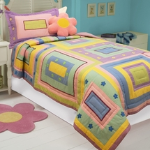 Rachel Cotton Twin Quilt/Sham Set