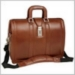 "V Series Morgan Leather Brown 17"" Litigator Laptop Brief by McKlein (MCKL83344)"
