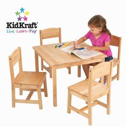 KIDKRAFT Farmhouse Table and 4 Chairs - Click to enlarge