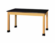 Lab Table - plain - black plastic lam  (Quick Ship)