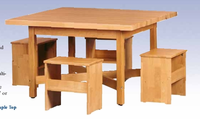 "Elementary Four-Student Table - 48""x48""-17 Wt-130"