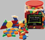 DIDAX Wooden Pattern Blocks (1 cm)