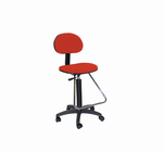 Lafayette Drafting Height Seating in black with Red seat and back