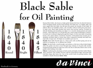 da Vinci Black Sable Filbert-1845