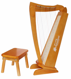 Schoenhut 15�String�Harp�with�bench - Click to enlarge