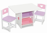 KIDKRAFT Heart Table and Chair Set