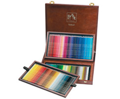 Caran d Ache Wooden box Set of 120 PABLO Permanent Color Pencils