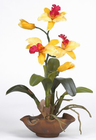 Mini Cattelya Silk Orchid Arrangement