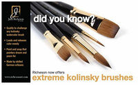 Extreme Kolinsky Flat Brushes - Series 7778
