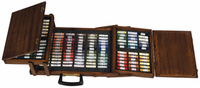 Daniel Greene 144 Pastel Set in Wooden Briefcase