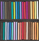 Richeson Semi-Hard Square Pastels - Set of 36