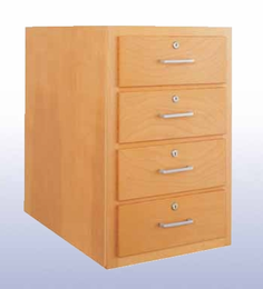 Wood High Base - 4 drawers