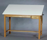 Alvin Wood 4 Post Table 36X48X37H