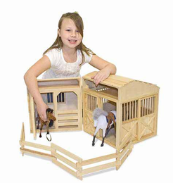 Melissa & Doug Folding Horse Stable - Click to enlarge