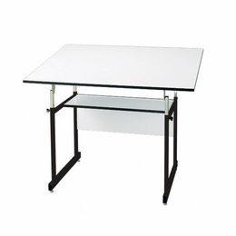 "Alvin� WorkMaster� Jr. Table, Black Base White Top 31"" x 42"""