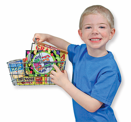 Melissa & Doug Grocery Basket w/ Play Food - Click to enlarge