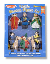 Melissa & Doug Castle Wooden Figure Set - Click to enlarge