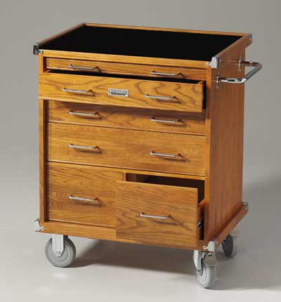 Gerstner International R532 Red Oak Roller Cabinet