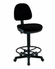Alvin� Black Premo Drafting Height Ergonomic Chair