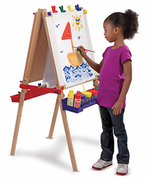 Melissa & Doug Deluxe Wooden Standing Art Easel - Click to enlarge
