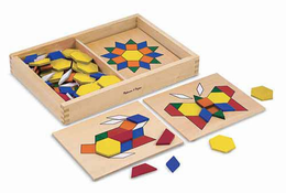 Melissa & Doug Pattern Blocks and Boards - Click to enlarge