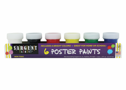 Sargent Art 6 Poster Paint Set (.75oz. each) - Click to enlarge