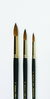 SET OF 3 RICHESON SABLE  BRUSHES IN WOODEN BOX