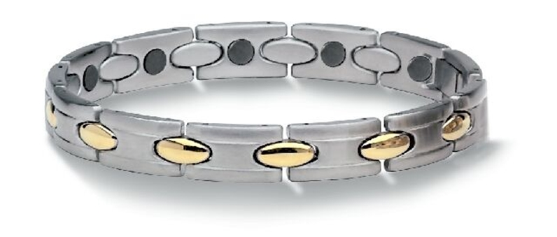 Athena Magnetic Therapy Bracelet 24K Gold Plated Accents