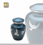 Flying Doves Brass Keepsake Cremation Urn