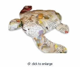Biodegradable Newsprint Paper Mini Turtle Cremation Urn