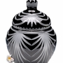 Large Black Majestic Drape Lead Crystal Cremation Urn