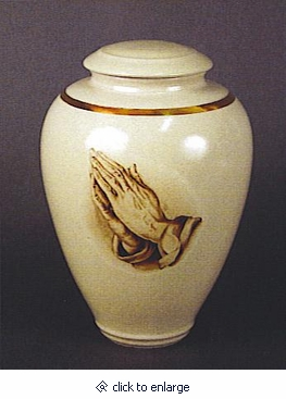 Praying Hands Handmade Classic Vase Cremation Urn