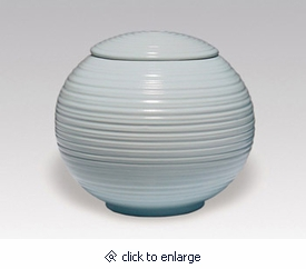 Light Blue Sfera Porcelain Cremation Urn