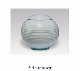 Light Blue Sfera Porcelain Keepsake Cremation Urn