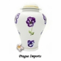 Pansy Flower Porcelain Cremation Urn