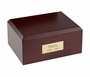 Traditional Walnut Wood Pet Cremation Urn - Medium