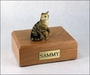 Brown Tabby Cat Figurine Pet Cremation Urn - 635