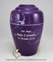Gold Sm. Grecian Cremation Urn - Engravable