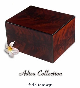 Bordeaux Mahogany Finish Wood Cremation Urn