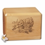 Southwest Pottery Classic Maple Wood Cremation Urn