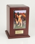 Photo Tower Walnut Wood Pet Cremation Urn - Small
