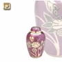 Lilac Rose Enameled Brass Keepsake Cremation Urn
