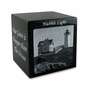 Black Granite Keepsake Cube Cremation Urn with Engraved Photo