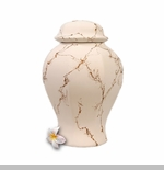 White Biodegradable Sea Cremation Urn